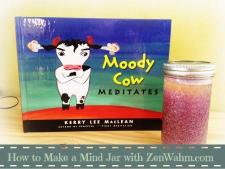 moody cow meditates