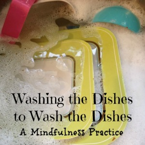 washing the dishes to wash the dishes