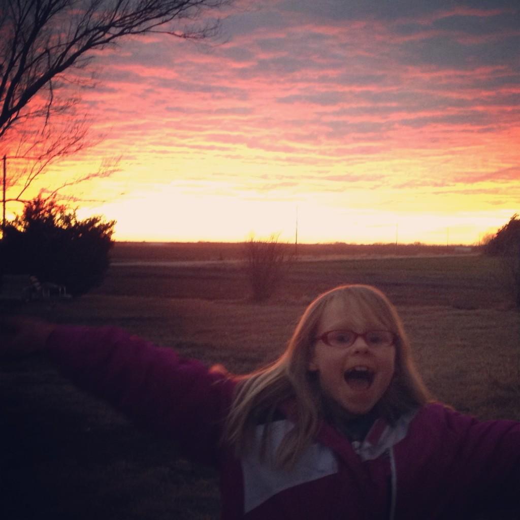 sunset photobomb