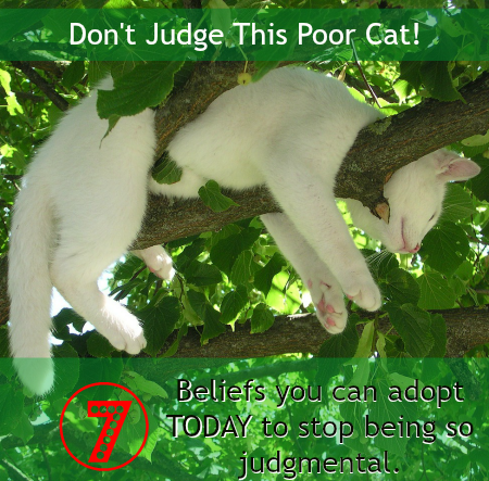 7 useful ideas you can start believing today to be less judgmental. ~ ZenWahm.com